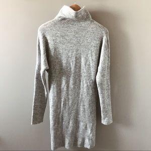 Dynamite Grey Knit Sweater Dress